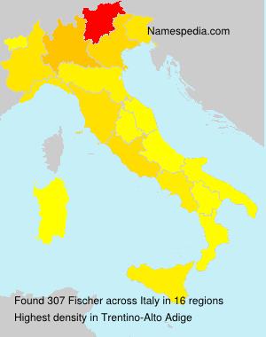 Surname Fischer in Italy