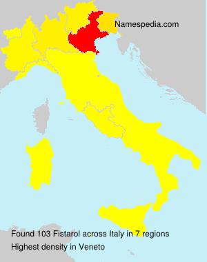 Surname Fistarol in Italy
