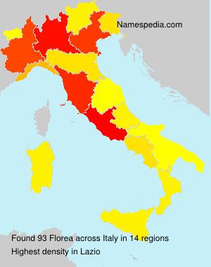 Familiennamen Florea - Italy