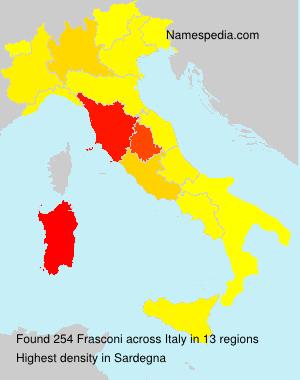Surname Frasconi in Italy