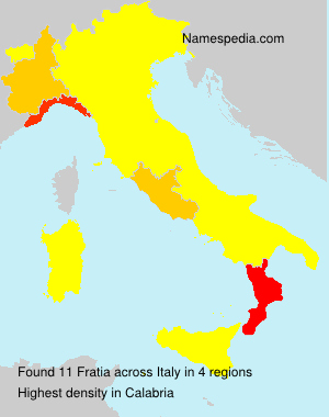 Surname Fratia in Italy