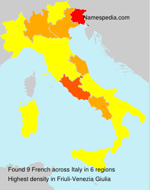 Surname French in Italy