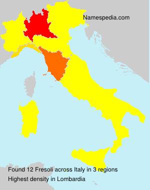 Familiennamen Fresoli - Italy