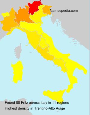 Familiennamen Fritz - Italy