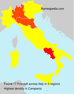 Surname Fronzuti in Italy