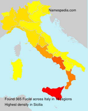 Surname Fucile in Italy