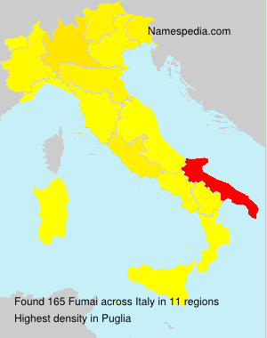Surname Fumai in Italy