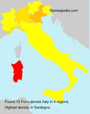 Surname Furru in Italy