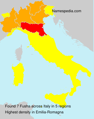 Surname Fusha in Italy