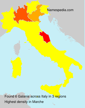 Surname Galanis in Italy