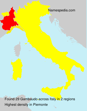 Surname Gambaudo in Italy