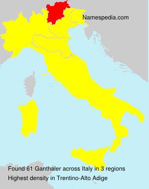 Surname Ganthaler in Italy