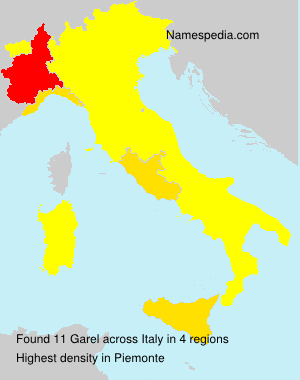 Surname Garel in Italy