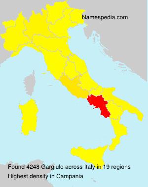 Surname Gargiulo in Italy