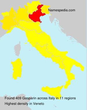 Familiennamen Gasparin - Italy