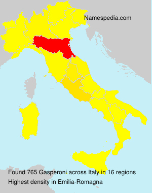 Surname Gasperoni in Italy