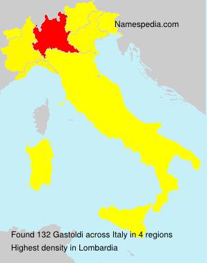 Surname Gastoldi in Italy
