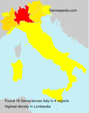 Surname Gema in Italy