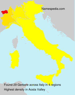 Surname Gerbore in Italy