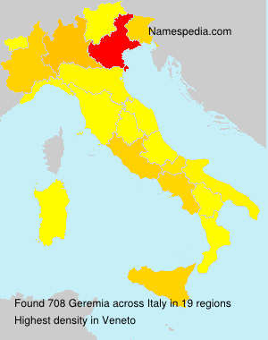Surname Geremia in Italy