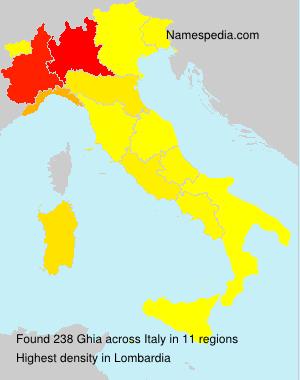 Familiennamen Ghia - Italy