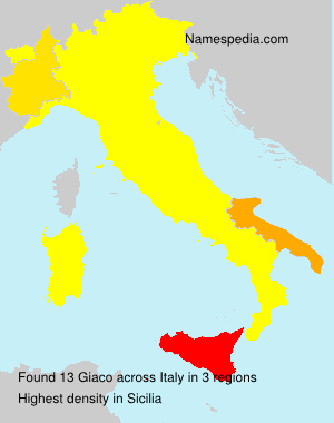 Surname Giaco in Italy