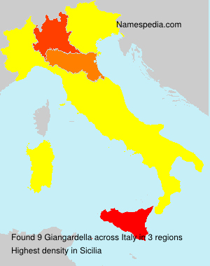 Surname Giangardella in Italy