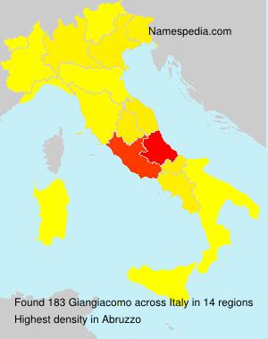 Familiennamen Giangiacomo - Italy