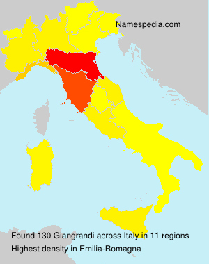 Surname Giangrandi in Italy