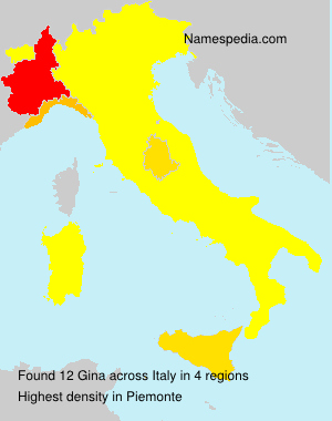Surname Gina in Italy