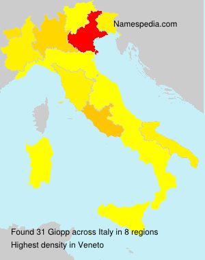 Familiennamen Giopp - Italy