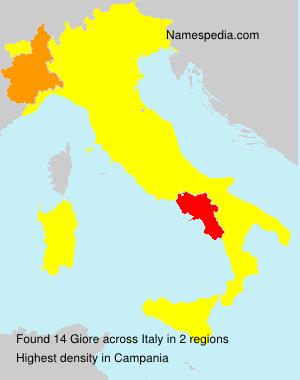 Familiennamen Giore - Italy
