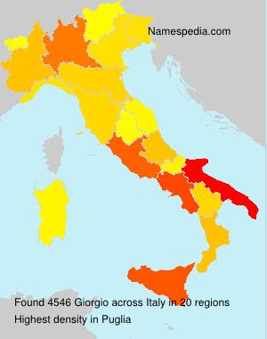 Surname Giorgio in Italy