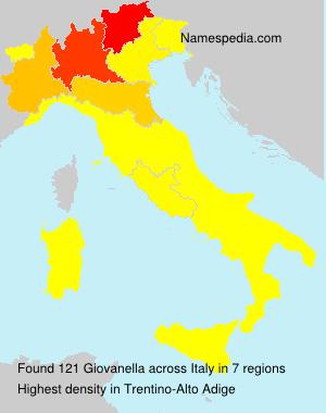 Familiennamen Giovanella - Italy