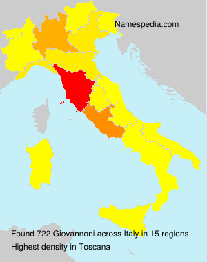 Surname Giovannoni in Italy