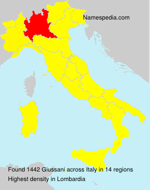 Surname Giussani in Italy