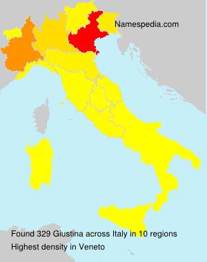 Surname Giustina in Italy