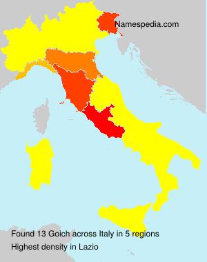 Familiennamen Goich - Italy
