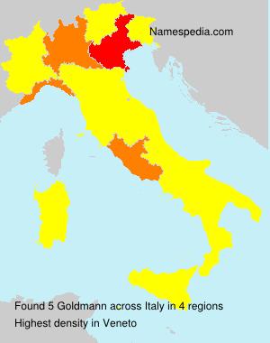 Familiennamen Goldmann - Italy