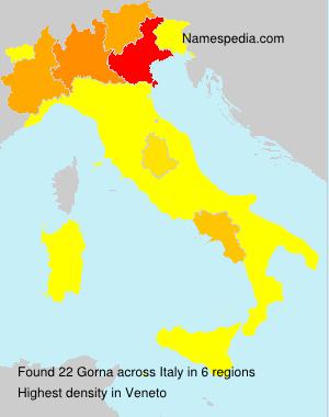 Surname Gorna in Italy