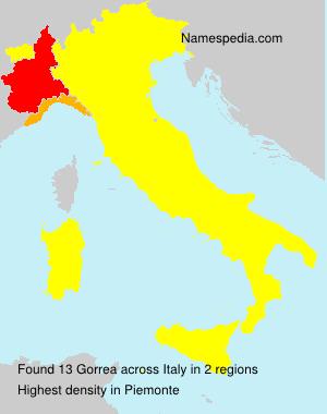 Surname Gorrea in Italy