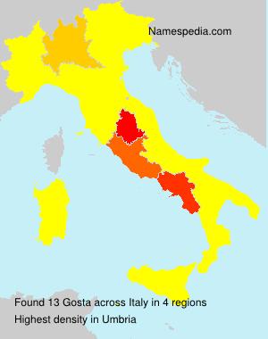 Surname Gosta in Italy