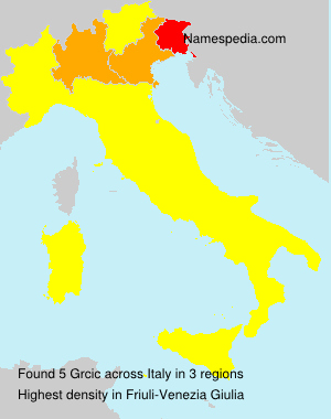 Surname Grcic in Italy