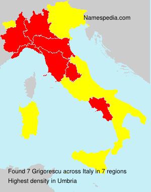 Familiennamen Grigorescu - Italy