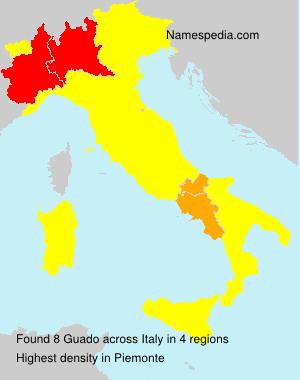 Surname Guado in Italy