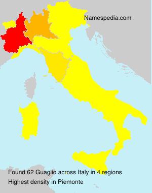 Familiennamen Guaglio - Italy