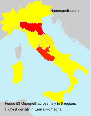 Familiennamen Guagnelli - Italy