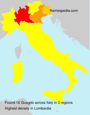Familiennamen Guagno - Italy