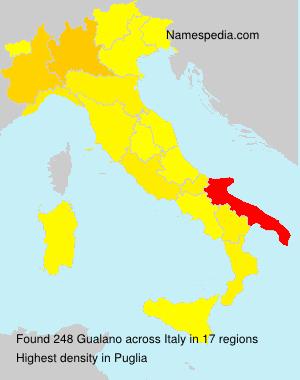 Familiennamen Gualano - Italy