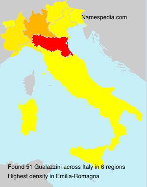 Surname Gualazzini in Italy